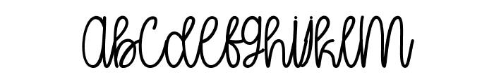 Oh My It's July Font LOWERCASE