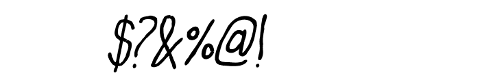 Oh,Maria Italic Font OTHER CHARS