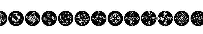 OhRosettaDiscus Font LOWERCASE