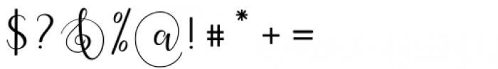 Oh Claristta Regular Font OTHER CHARS