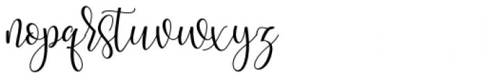 Oh Claristta Regular Font LOWERCASE
