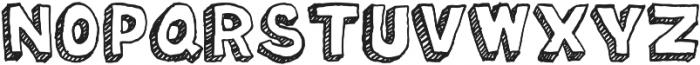 Oil Change otf (400) Font UPPERCASE