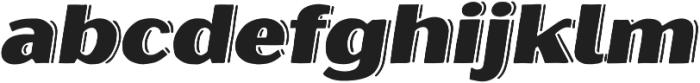 Oilvare Shadowed otf (400) Font LOWERCASE