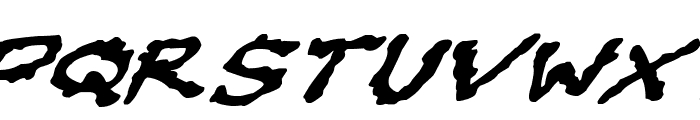 Oilslick Italic Font UPPERCASE