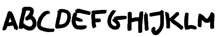 oilhand Font LOWERCASE