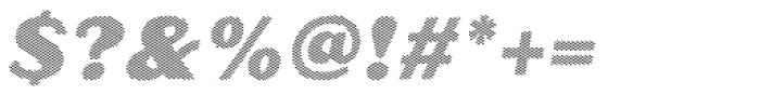 Oilvare Hatch Shadow Italic Font OTHER CHARS