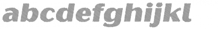 Oilvare Hatch Shadow Italic Font LOWERCASE