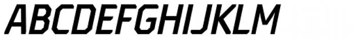 Oita Condensed Demi Italic Font UPPERCASE