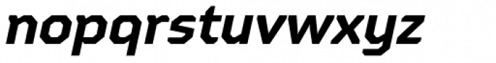 Oita Expanded Bold Italic Font LOWERCASE