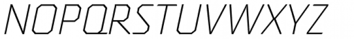 Oita Expanded Light Italic Font UPPERCASE
