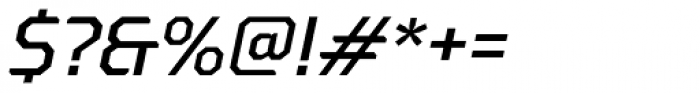 Oita Expanded Medium Italic Font OTHER CHARS