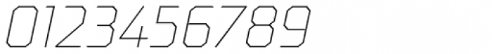 Oita Expanded Thin Italic Font OTHER CHARS