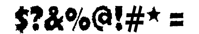 Ojovanic Bold Font OTHER CHARS