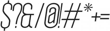 Okana Light Oblique otf (300) Font OTHER CHARS