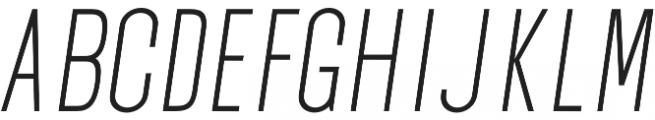 Okana Light Oblique otf (300) Font UPPERCASE