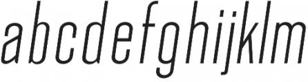 Okana Light Oblique otf (300) Font LOWERCASE