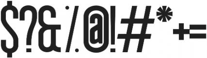 Okana UltraBold otf (700) Font OTHER CHARS