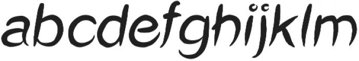 Okashi italic otf (400) Font LOWERCASE