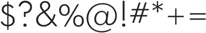 Okojo Light otf (300) Font OTHER CHARS