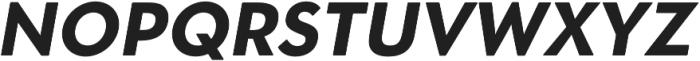 OkojoDisplay Bold Italic otf (700) Font UPPERCASE