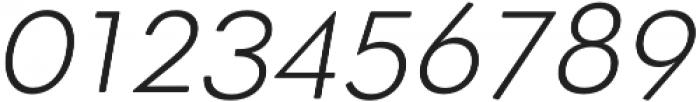 OkojoDisplay Light Italic otf (300) Font OTHER CHARS