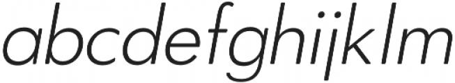 OkojoDisplay Light Italic otf (300) Font LOWERCASE