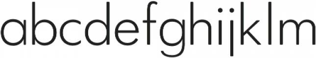 OkojoDisplay Light otf (300) Font LOWERCASE