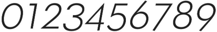 OkojoItalic Light Italic otf (300) Font OTHER CHARS