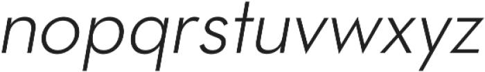 OkojoItalic Light Italic otf (300) Font LOWERCASE