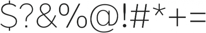 OkojoPro otf (300) Font OTHER CHARS
