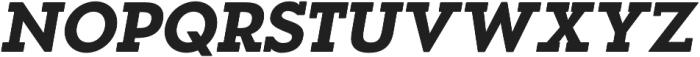 OkojoSlabDisplay Bold Italic otf (700) Font UPPERCASE