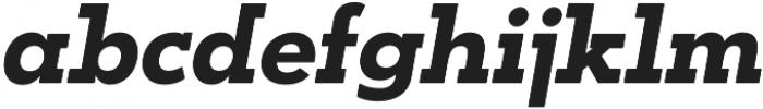 OkojoSlabDisplay Bold Italic otf (700) Font LOWERCASE
