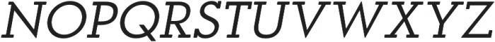 OkojoSlabDisplay Italic otf (400) Font UPPERCASE