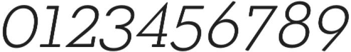 OkojoSlabDisplay Light Italic otf (300) Font OTHER CHARS