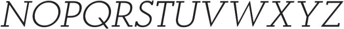 OkojoSlabDisplay Light Italic otf (300) Font UPPERCASE