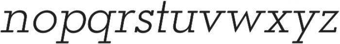 OkojoSlabDisplay Light Italic otf (300) Font LOWERCASE