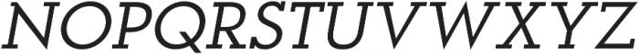 OkojoSlabItalic Italic otf (400) Font UPPERCASE