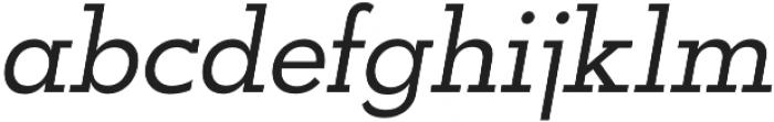 OkojoSlabItalic Italic otf (400) Font LOWERCASE