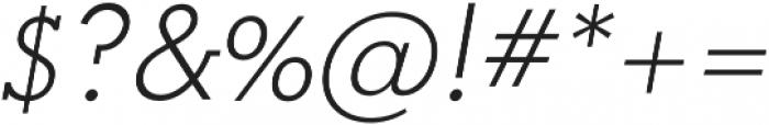 OkojoSlabItalic Light Italic otf (300) Font OTHER CHARS