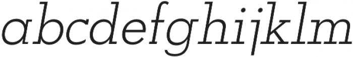 OkojoSlabItalic Light Italic otf (300) Font LOWERCASE