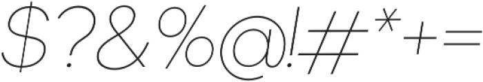 Okta Neue ExtraLight Italic otf (200) Font OTHER CHARS