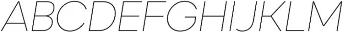 Okta Neue ExtraLight Italic otf (200) Font UPPERCASE