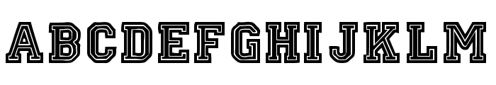 Oklahoma Font LOWERCASE