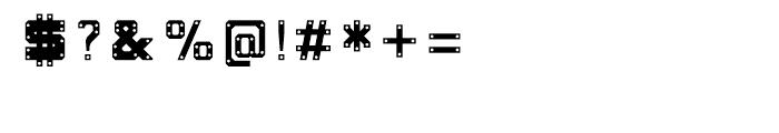 Okay-A Gunmetal Font OTHER CHARS