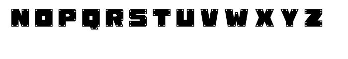 Okay-A Gunmetal Font UPPERCASE