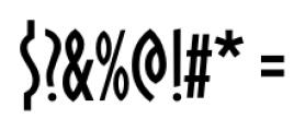 Oklahoma Regular Font OTHER CHARS