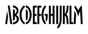 Oklahoma Regular Font UPPERCASE