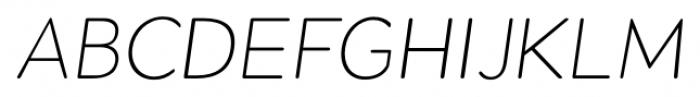 Okojo Pro Display Light Italic Font UPPERCASE