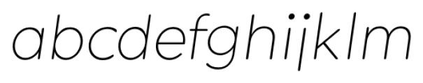 Okojo Pro Display Light Italic Font LOWERCASE