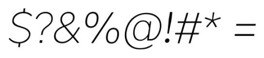 Okojo Pro Light Italic Font OTHER CHARS